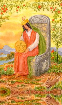 塔罗牌解释之——星币皇后